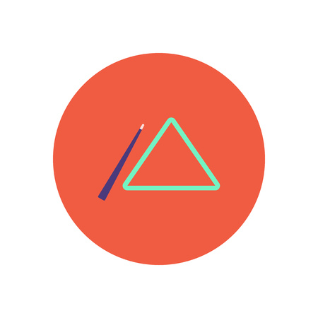 cue: stylish icon in color  circle billiard cue and triangle