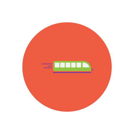 transit: stylish icon in color  circle high-speed train Illustration