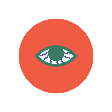 vision problems: stylish icon in color  circle vision problems Illustration