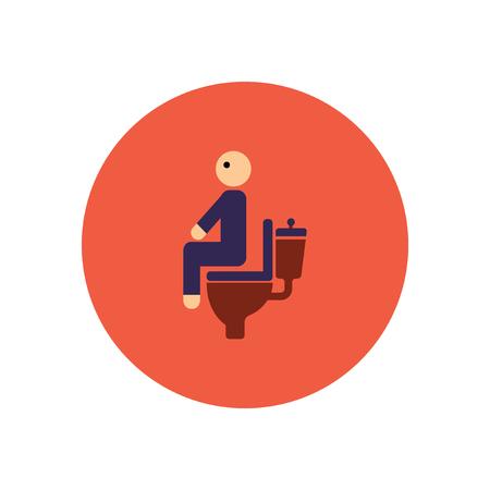 diarrea: icono de estilo en color de personas c�rculo diarrea Vectores