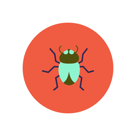 stylish icon in color  circle beetle insect