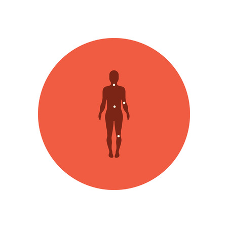 osteoarthritis: stylish icon in color  circle body osteoarthritis