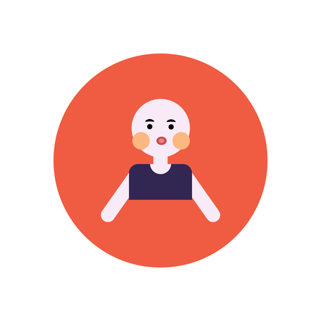 stylish icon in color  circle pale man Illustration