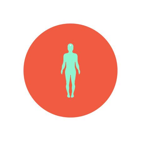 cranial skeleton: stylish icon in color  circle body stroke Illustration
