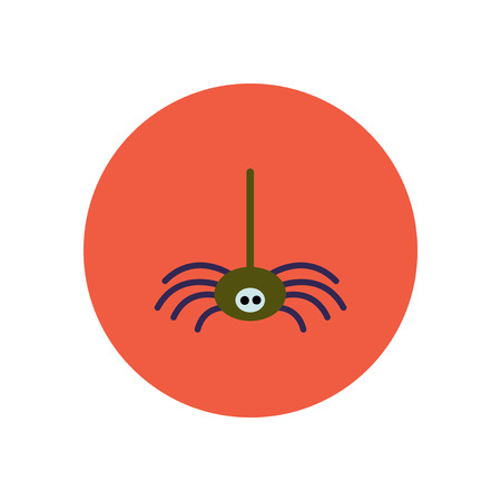 arachnophobia: stylish icon in color  circle spider insect