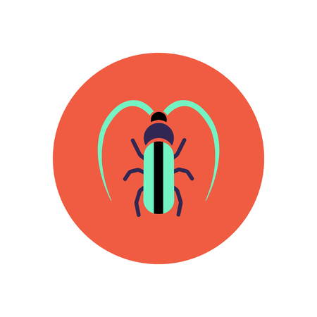 clamber: stylish icon in color  circle beetle barbel
