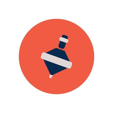 molinete: icono de estilo en el color de la perinola juguete c�rculo Vectores