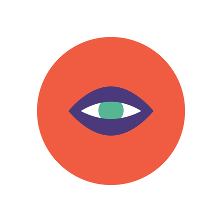 contact lens: stylish icon in color  circle eye problems Illustration