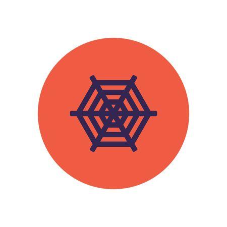 arachnid: stylish icon in color  circle spider web