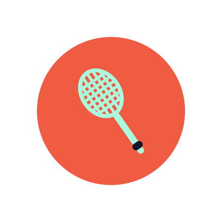 racquet: stylish icon in color  circle tennis racquet