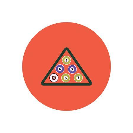 stylish icon in color  circle Billiard balls triangle