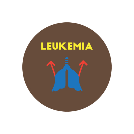 leucemia: icono del vector en los s�ntomas c�rculo Vaus de leucemia en los cuerpos