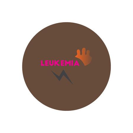 leucemia: icono del vector en diversos síntomas círculo de leucemia en los cuerpos Vectores