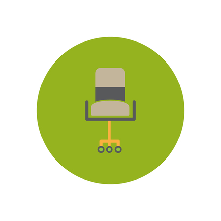 modernity: stylish icon in  circle fashion office chair