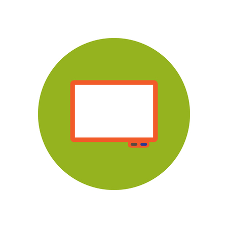 stylish icon in  circle Business interactive whiteboard Illustration