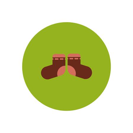 stylish icon in color  circle children socks