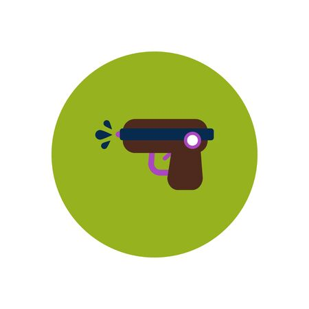 stylish icon in color  circle water gun
