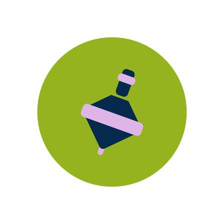stylish icon in color  circle toy whirligig Illustration