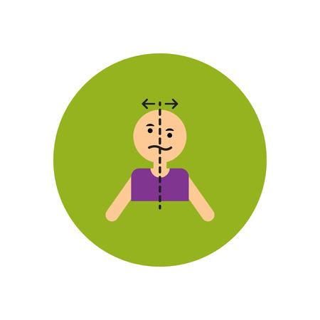 stylish icon in color  circle attack stroke face