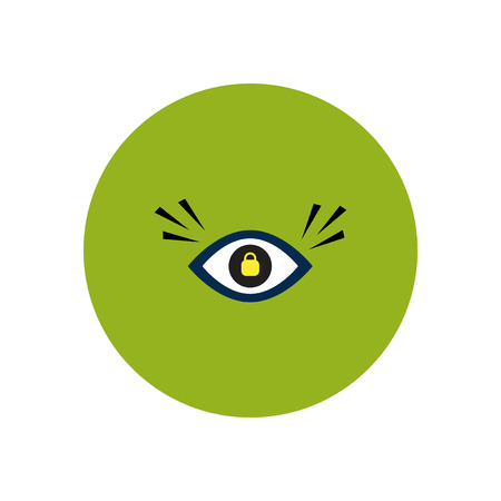 stylish icon in color  circle eye problems Illustration