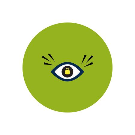 cornea: stylish icon in color  circle eye problems Illustration