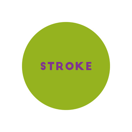 stylish icon in color  circle stroke disease