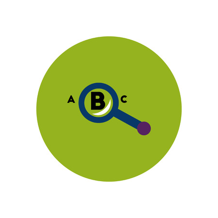 icons site search: stylish icon in color  circle magnifying glass letters