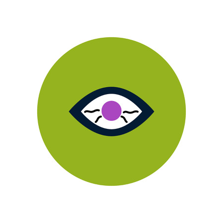 eye exams: stylish icon in color  circle eye problems Illustration