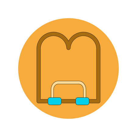 Back to School and Education Vector Flat Design book stand Illustration