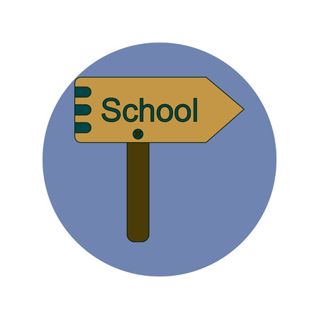 playschool: Back to School and Education Vector Flat Design School sign