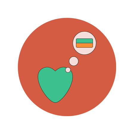 hint: Vector illustration in flat design of Love Ukraine