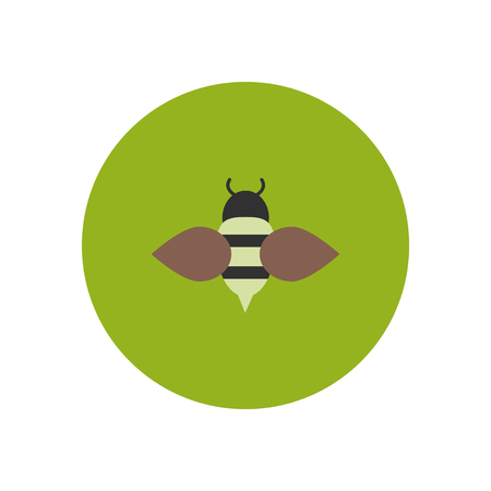 beeswax: stylish icon in color  circle Honey bee