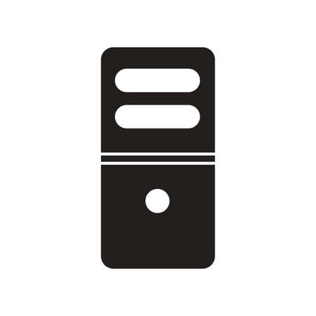 electrical part: flat icon in black and white  style computer