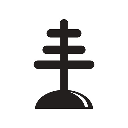 flat icon in black and white  style antenna