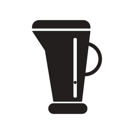 ml: flat icon in black and white  style beaker
