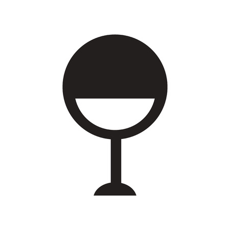 designer chair: flat icon in black and white  style designer chair
