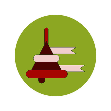 Back to School and Education Vector Flat Design bell Illustration