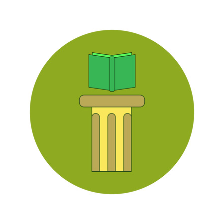 Back to School and Education Vector Flat Design book and bookstand