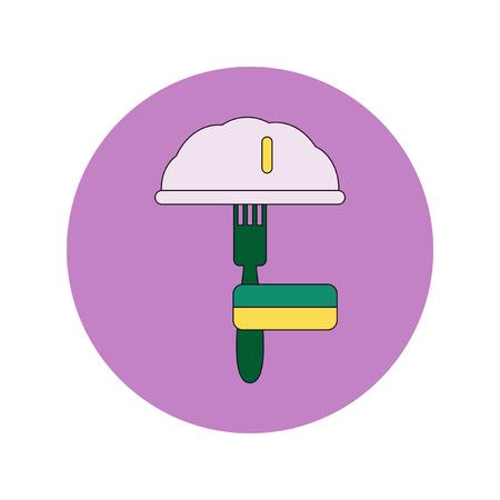 Vector illustration in flat design of Traditional Ukrainian food dumplings