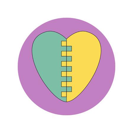 furrow: Vector illustration in flat design of Love Ukraine