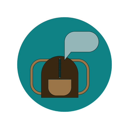 Back to School and Education Vector Flat Design school bag