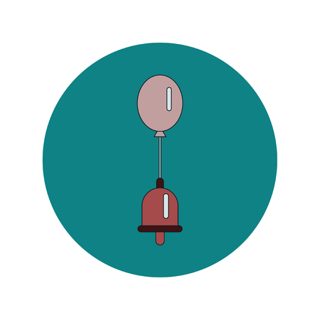 Back to School and Education Vector Flat Design bell and balloon