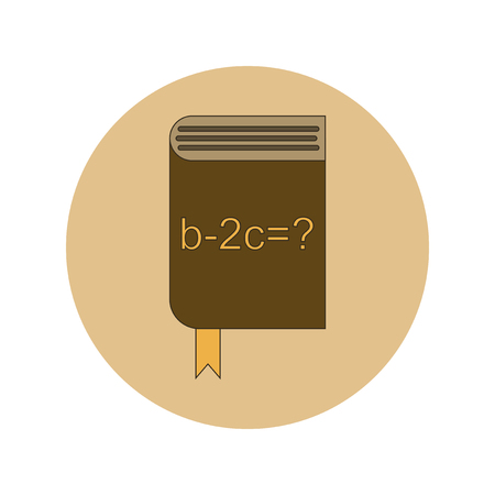 thesaurus: Back to School and Education Vector Flat Design math book