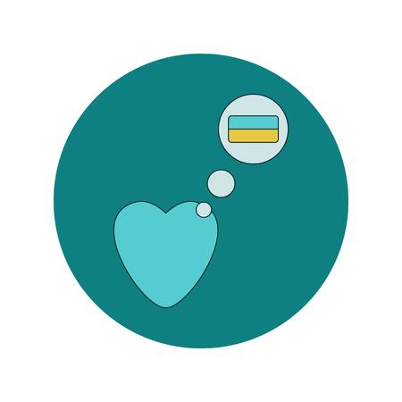 Vector illustration in flat design of Love Ukraine