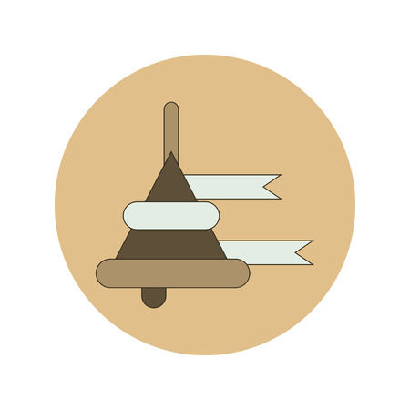 first class: Back to School and Education Vector Flat Design bell Illustration
