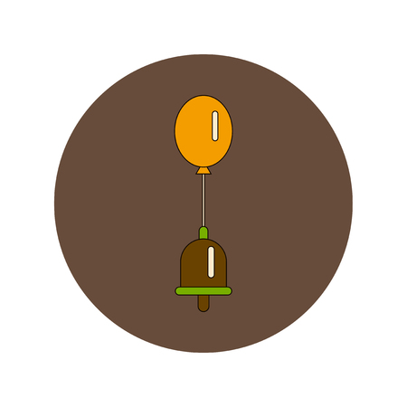 first class: Back to School and Education Vector Flat Design bell and balloon