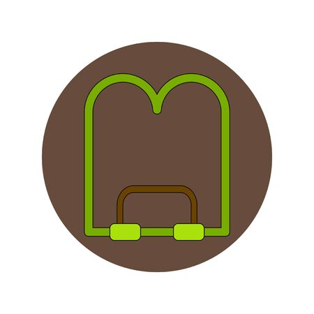 hardback: Back to School and Education Vector Flat Design book stand Illustration