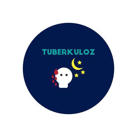 contagious: Vector icon  on  circle various symptoms of Tuberculosis on the human Stock Photo