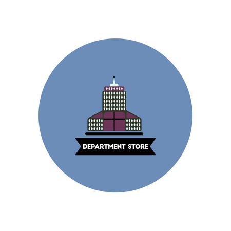 department store: stylish icon in color circle  building Department Store Illustration