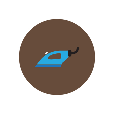 steam iron: Vector icon on the white backgrounds in circles iron